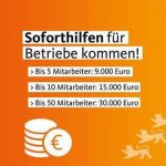 Finanzielle Soforthilfe für kleine und mittlere Unternehmen in Baden-Württemberg bes...